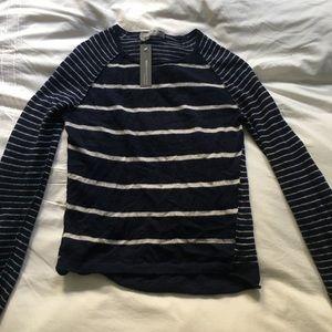 360 Cashmere mismatched stripes Breton sweater